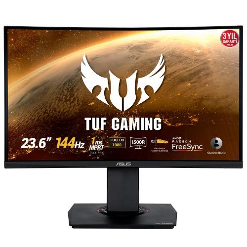 """Asus Tuf Gaming VG24VQ 23,6"""" 1920x1080 HDMI DP144Hz Kavisli 1ms Oyuncu Monitör"""